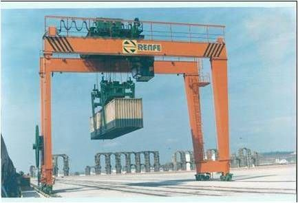Installation of GH Cranes & Components gantry crane for the application of containers manipulation.